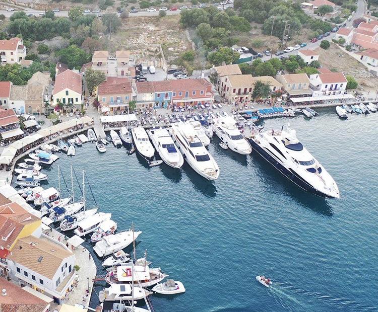yachts in Fiscardo village